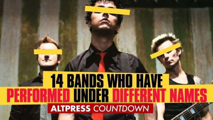 14 bands who performed under different names